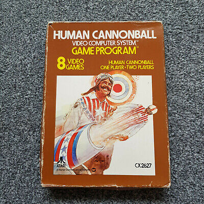 Atari 2600 VCS Human Cannonball Boxed with Instructions and working