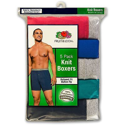 สำหรับขาย Fruit of the Loom Men's Knit Boxers 5Pk & 6Pk