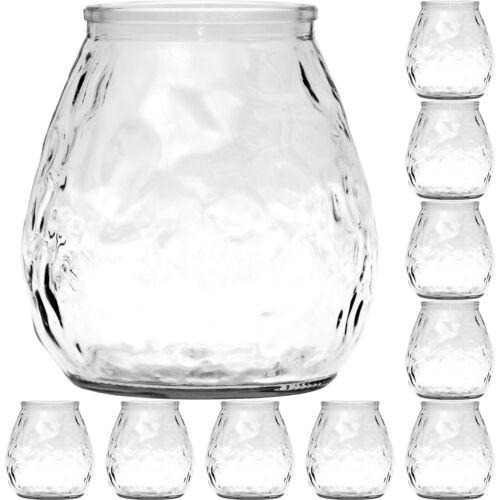 10 kleine Vasen Kugelvase Väschen Tischvase Teelichthalter Teelicht Kerzengläser