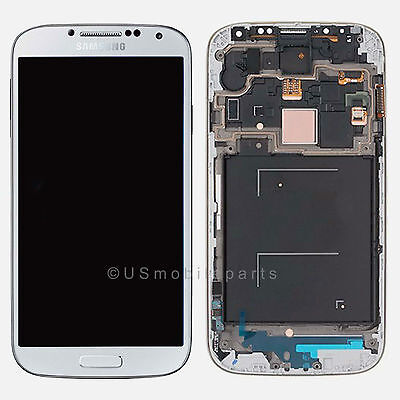 White Samsung Galaxy S4 i9500 i9505 i337 M919 LCD Touch Digitizer Screen + Frame on Rummage