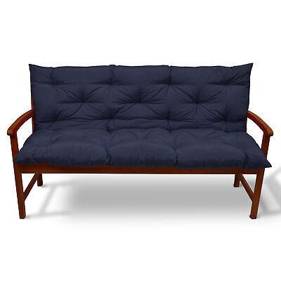 Beautissu Garden Bench Pad Cushion 180 x 50 x 50 cm 3 Seater Dark Blue