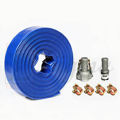 Sigma 1 In X 300 Ft Pvc Lay Flat Agricultural Pump Discharge Hose Camlock