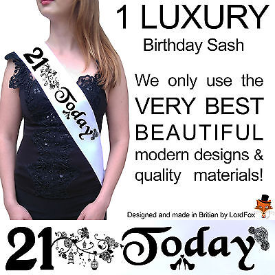 21ST BIRTHDAY GIRL PARTY SASH NIGHT OUT ACCESSORY FUN GIRLS SASHES - 21st Birthday Girl Accessories