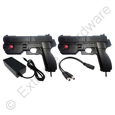 2 x Ultimarc AimTrak Black Arcade Recoil Light Guns & 24V 3A...