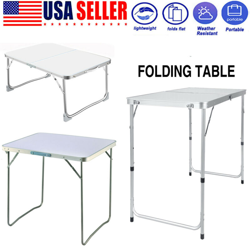 Aluminum Folding Table Portable Indoor Outdoor Picnic Party Camping Tables US