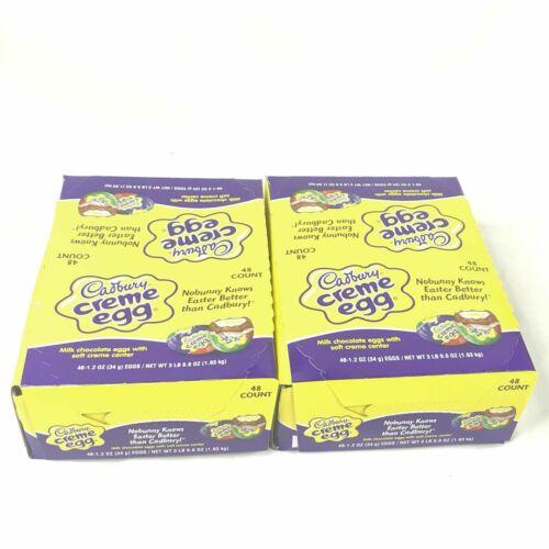Cadbury Creme Egg Chocolate Eggs 48 Count 2 Boxes Total 96 Eggs 1.2 oz 12/2020