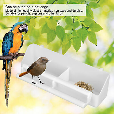 Parrots Feeder Pet Bird Hanging Food Water Bowl Pigeons Stand Cage Feeding Tools