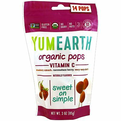 Organic Vitamin C Lollipops - Yumearth - 85g - 14 Pops