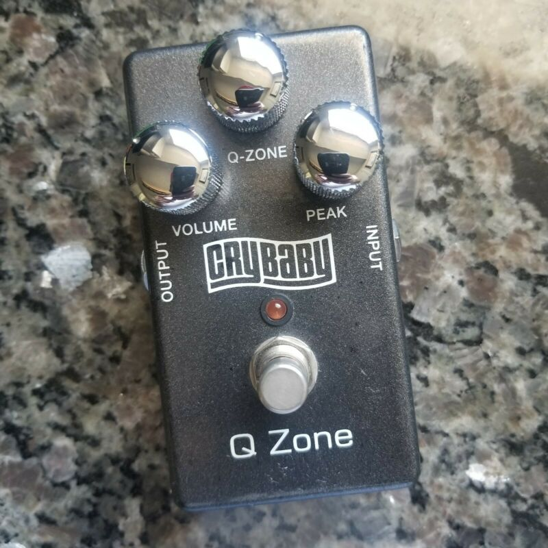 RARE Dunlop Crybaby Q-Zone fixed wah pedal - early model