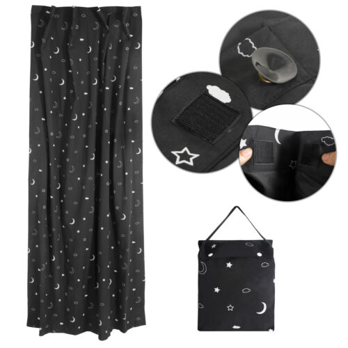 Anywhere Portable Travel Baby Blackout Blind, Star and Moon, Black Curtains & Drapes