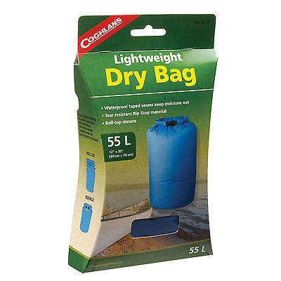 55L LIGHTWEIGHT DRY BAG, WATERPROOF SEAMS,RIP STOP,ROLL-TOP CLOSURE BLUE NIB! Lightweight Dry Bag