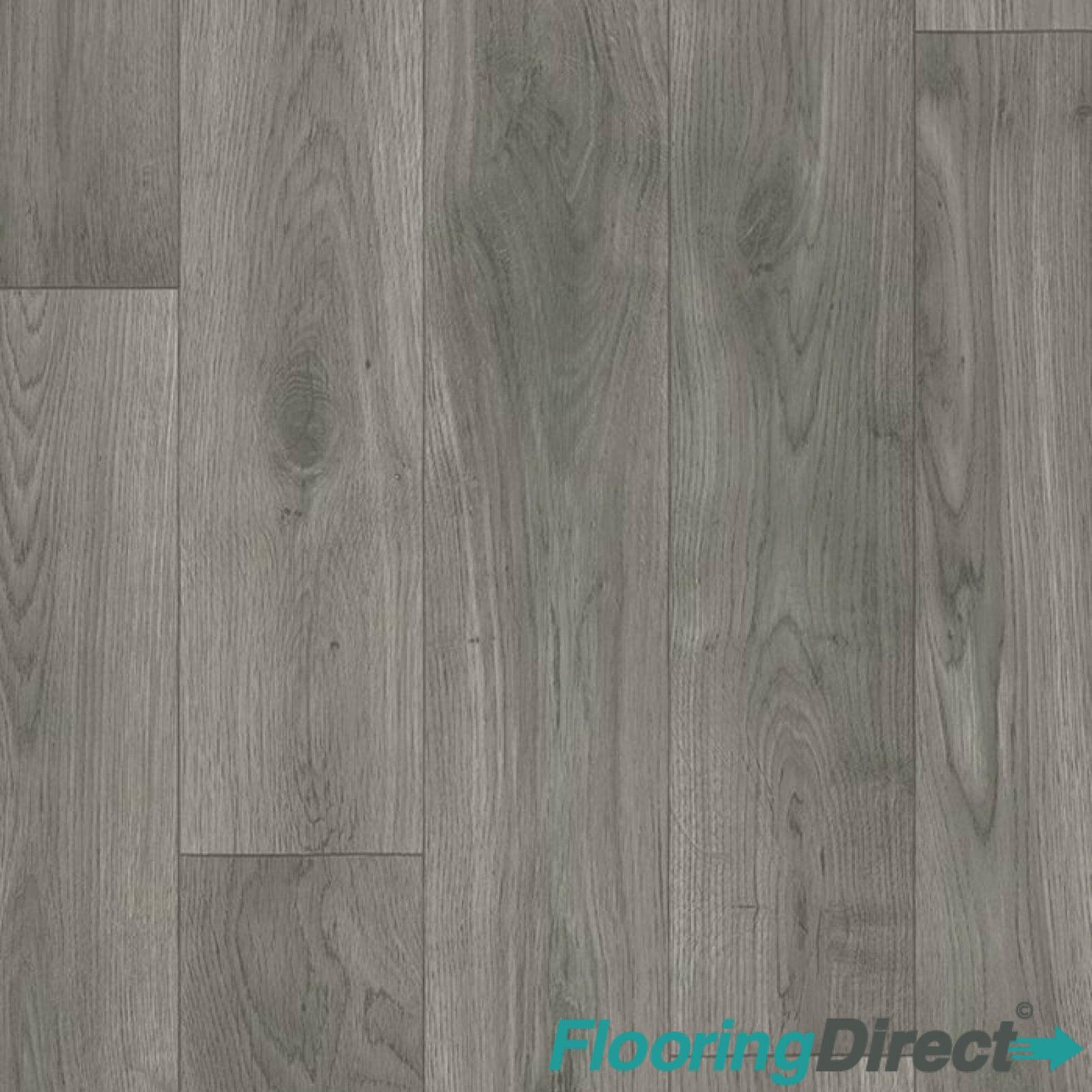 White Grey Oak Vinyl Flooring Wood Effect Non Slip Lino Kitchen Bathroom 2 3 4m