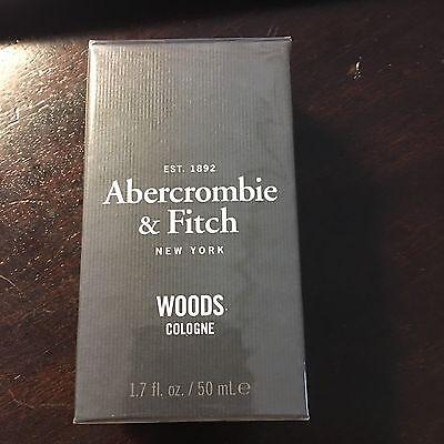 New Sealed men Abercrombie & Fitch A&F WOODS Eau de Cologne 1.7 oz discontinued
