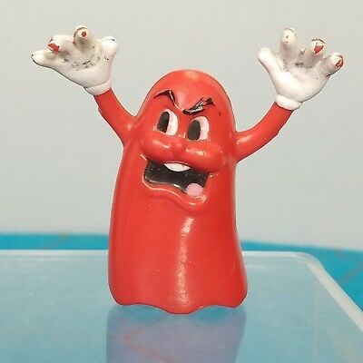 Coleco Pacman Red Blinky Ghost Toy PVC Figure 1982 Vintage - Blinkies Toy