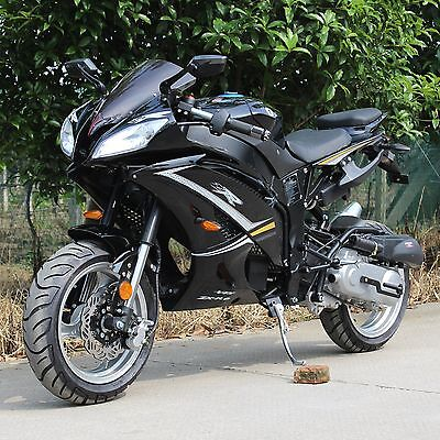 CRT DF50SST  Super Bike Motorcycle Scooter Moped Bicycle  Black