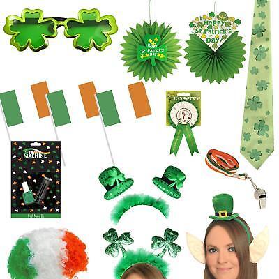 St Patrick's Day - Decorations, Dress Up, Novelty Party Items - Choose - Patrick Dress Up