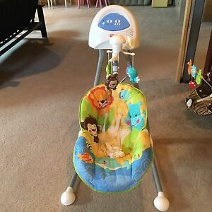 Gently used baby swing