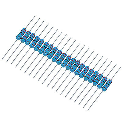 Us Stock 20pcs 100k Ohm Metal Film Resistor 3w - 1 3 Watt High Quality