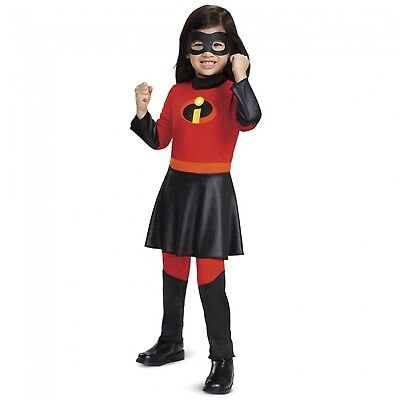 Disney Incredibles Violet Red Jumpsuit Halloween Costume Toddler Girls 2T 3T - Incredibles Costume Toddler