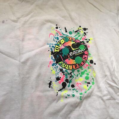 retro paint splatter  neon graphics MS offroad equipment distressed stain worn  ()