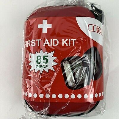 I GO Compact First Aid Kit - Hard Shell Case for Hiking,Travel, Car - 85 Pieces  for sale  Shipping to South Africa