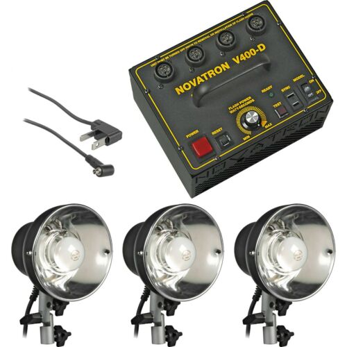 Novatron V400-D ; 3 light head, Soft Case, Power Pack