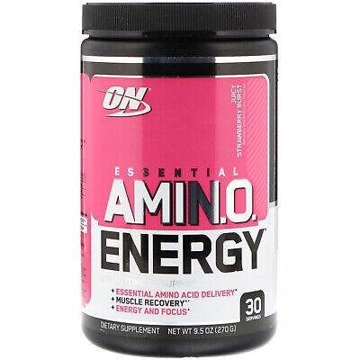 ESSENTIAL AMIN.O. ENERGY, Juicy Strawberry Burst, 9.5 oz (270 g)