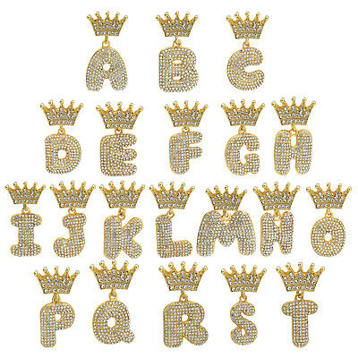 Alphabet Crown Bubble Letter Pendant 24