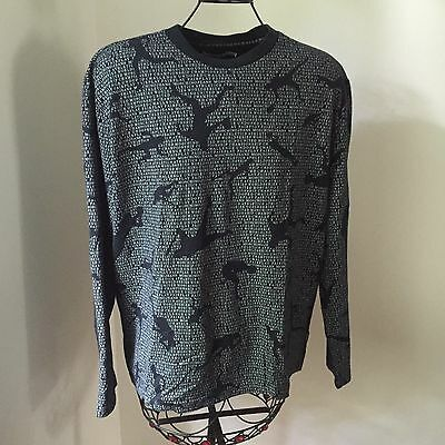 MOSCHINO JEANS Black Logo Printed Long Sleeves Sweatshirt size XXXL