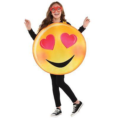 Kinder Jungen Mädchen Liebe Herz Augen Text Emotion Smiley Neuheit Maskenkostüm
