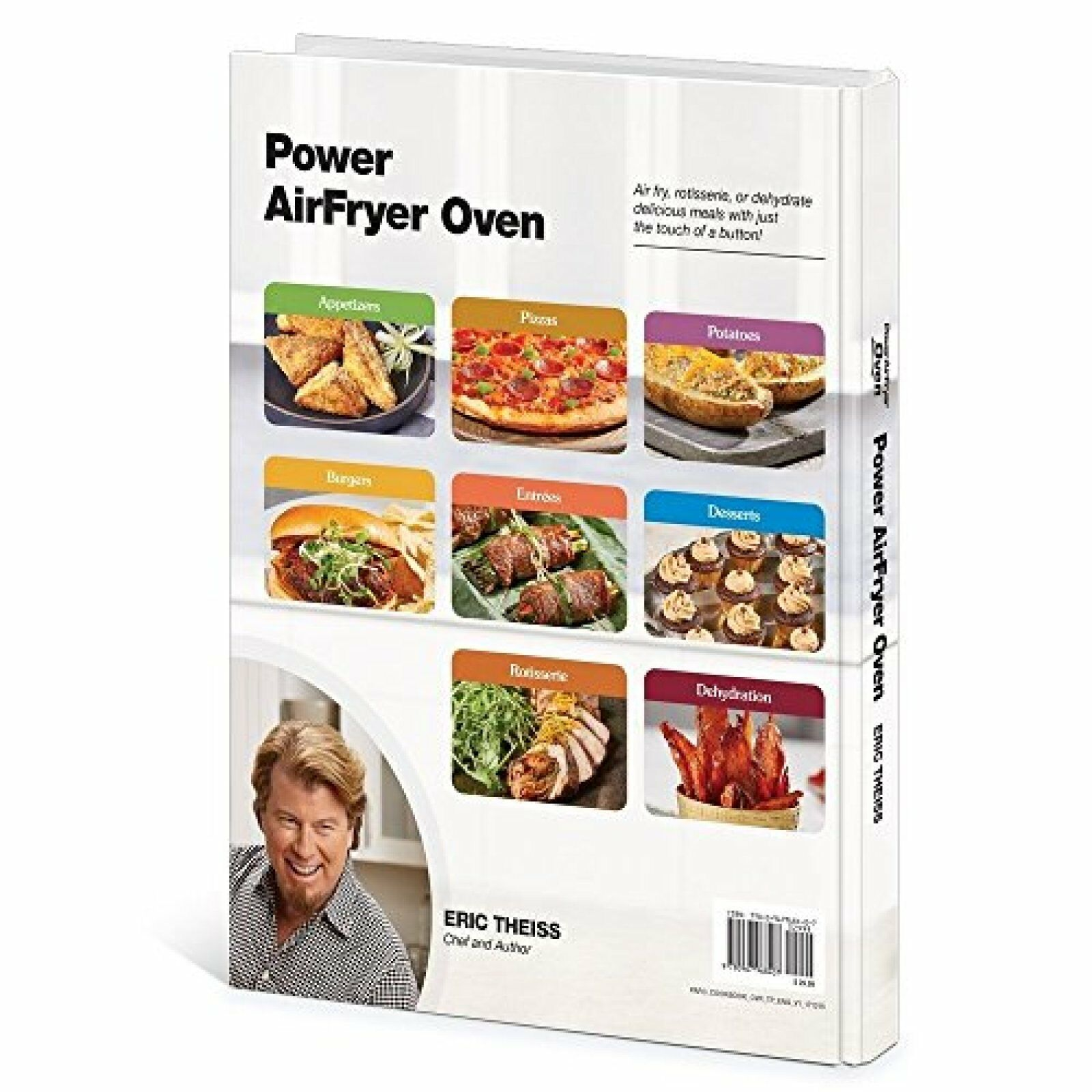 Power Air Fryer Oven Cookbook Hardcover By Eric Theiss 124 E