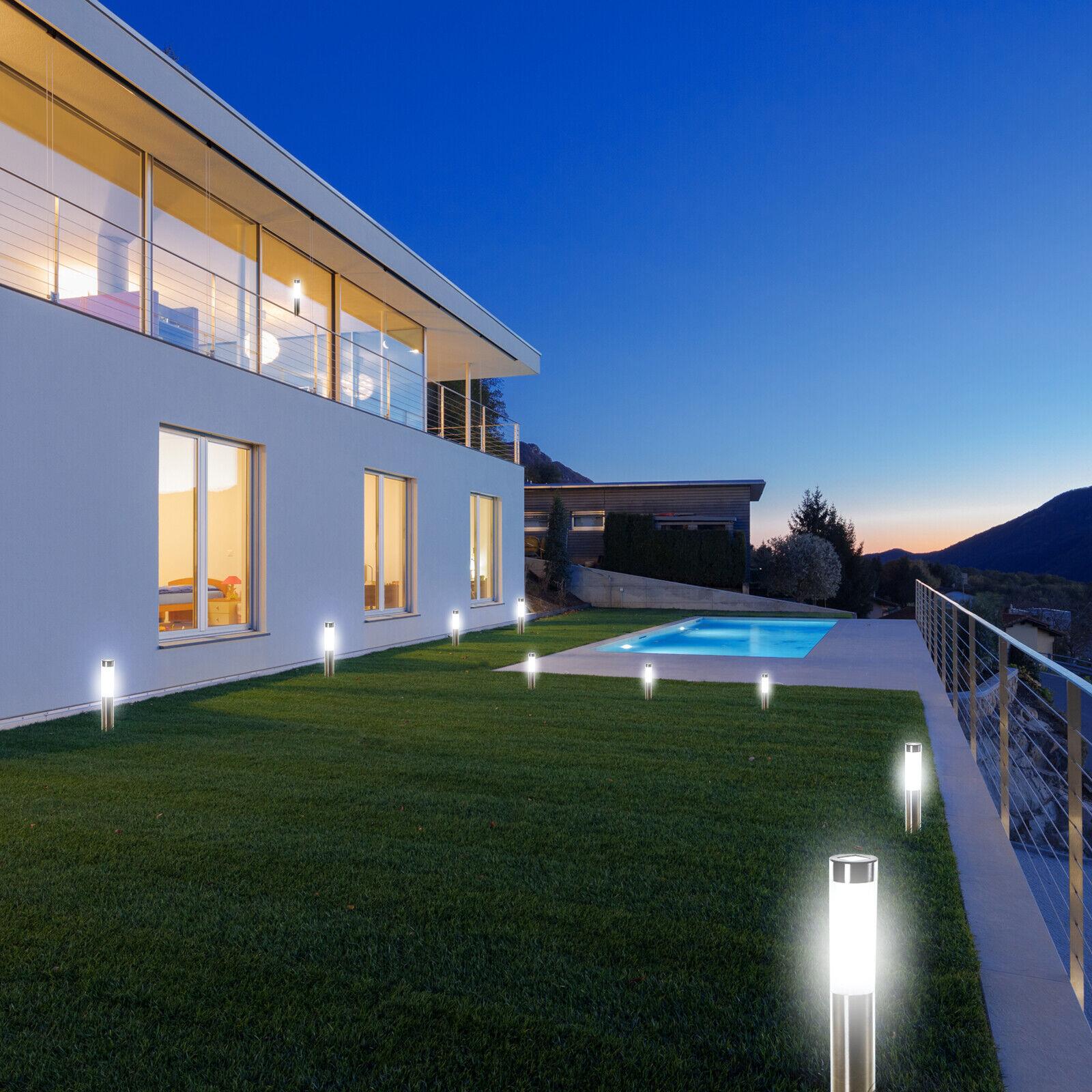 10  x Solarlampe Garten LED Design Gartenleuchte Gartenlampe Solarleuchte Sonne
