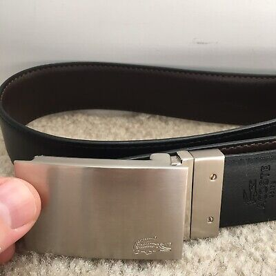 Lacoste Belt Men 38 Black Polo Authentic