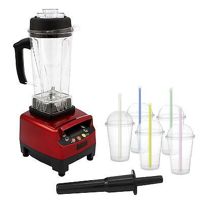 Digital Commercial Food Blender Milkshake Mixer Heavy Duty Smoothie Soup Maker