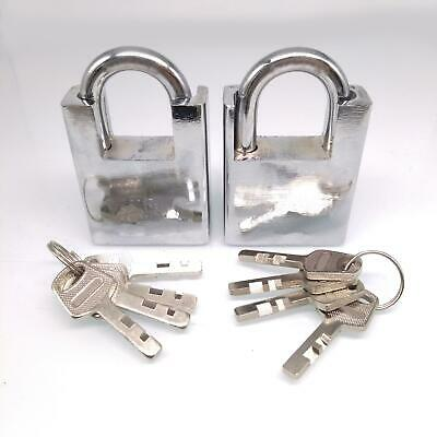 2pcs Shipping Container Garage Anti-theft Lock Padlock With 4 Keys 50mm