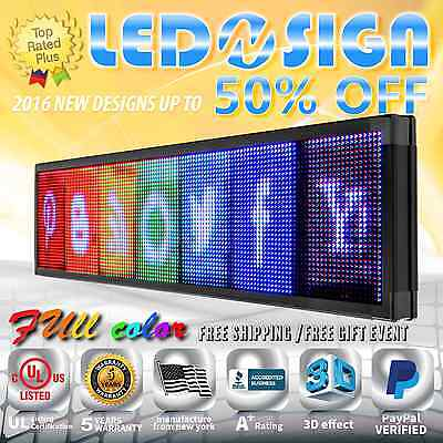 Led Sign Full Color 19x53 Programmable Emc Scrolling Readerboard Outdoor Sign