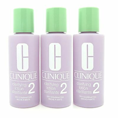 Lot of 3 Clinique Clarifying Lotion #2 Dry Combination 2 oz*3 Total 6 oz/180 (Clinique Clinique Clarifying Lotion)