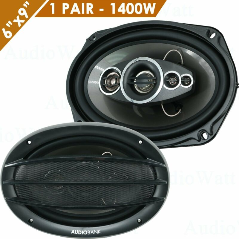"""2x Audiobank AB-690 6""""x9"""" 1400 Watts 5-Way Car Audio Stereo Coaxial Speakers NEW"""