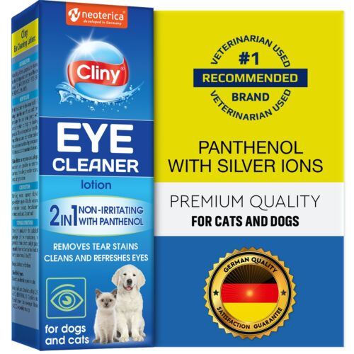 Premium Eye Cleaner for Dogs & Cats - Natural Gentle Eye Infection Treatment