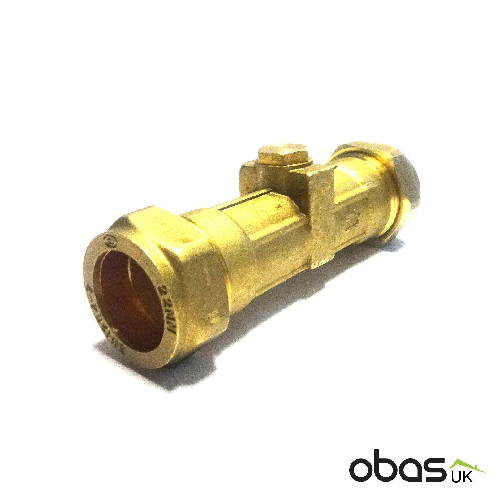 DZR Compression 15mm Double Check Valve PACK OF 5
