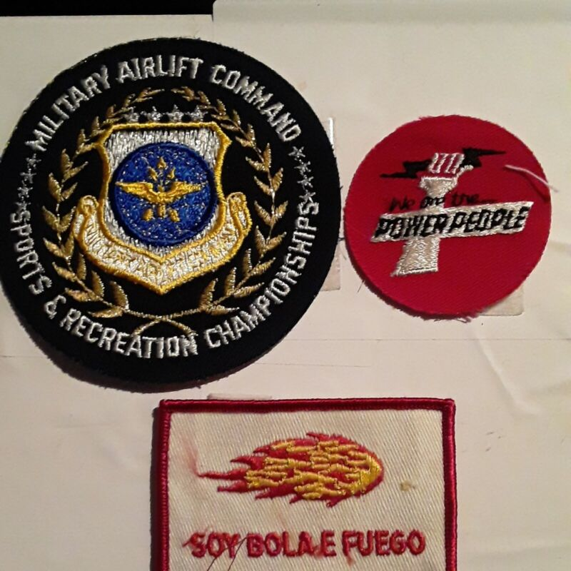 Vintage Lot Of 3 Patches Free USA Shipping