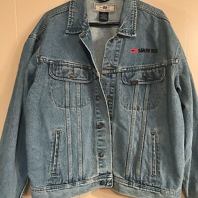 Lee Denim Jacket Smith Bits Work Blue Jean Men's Coat Size XL  for sale  Shipping to India
