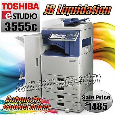 Toshiba 3555c Color Copier Booklet Maker Network Printer Scanner E-studio