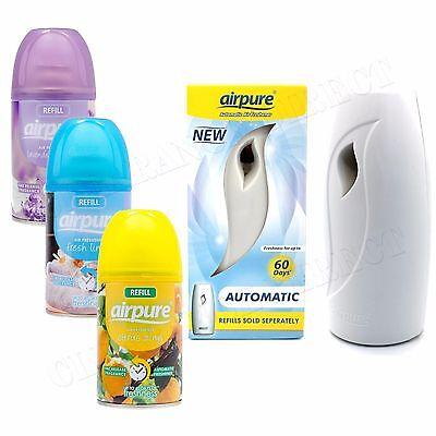 Airpure Air Freshner Automatic Spray Machine 3x Fragrances Refills FREE POSTAGE