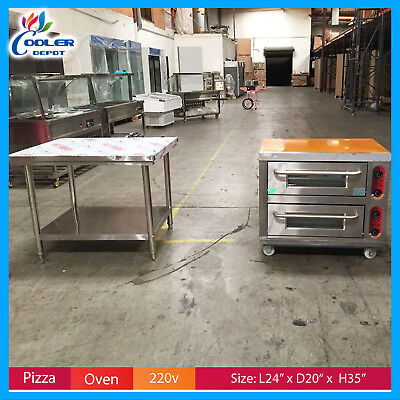 Pizza Oven Commercial Electric Pizzeria Ss Table 220v Cooler Depot New