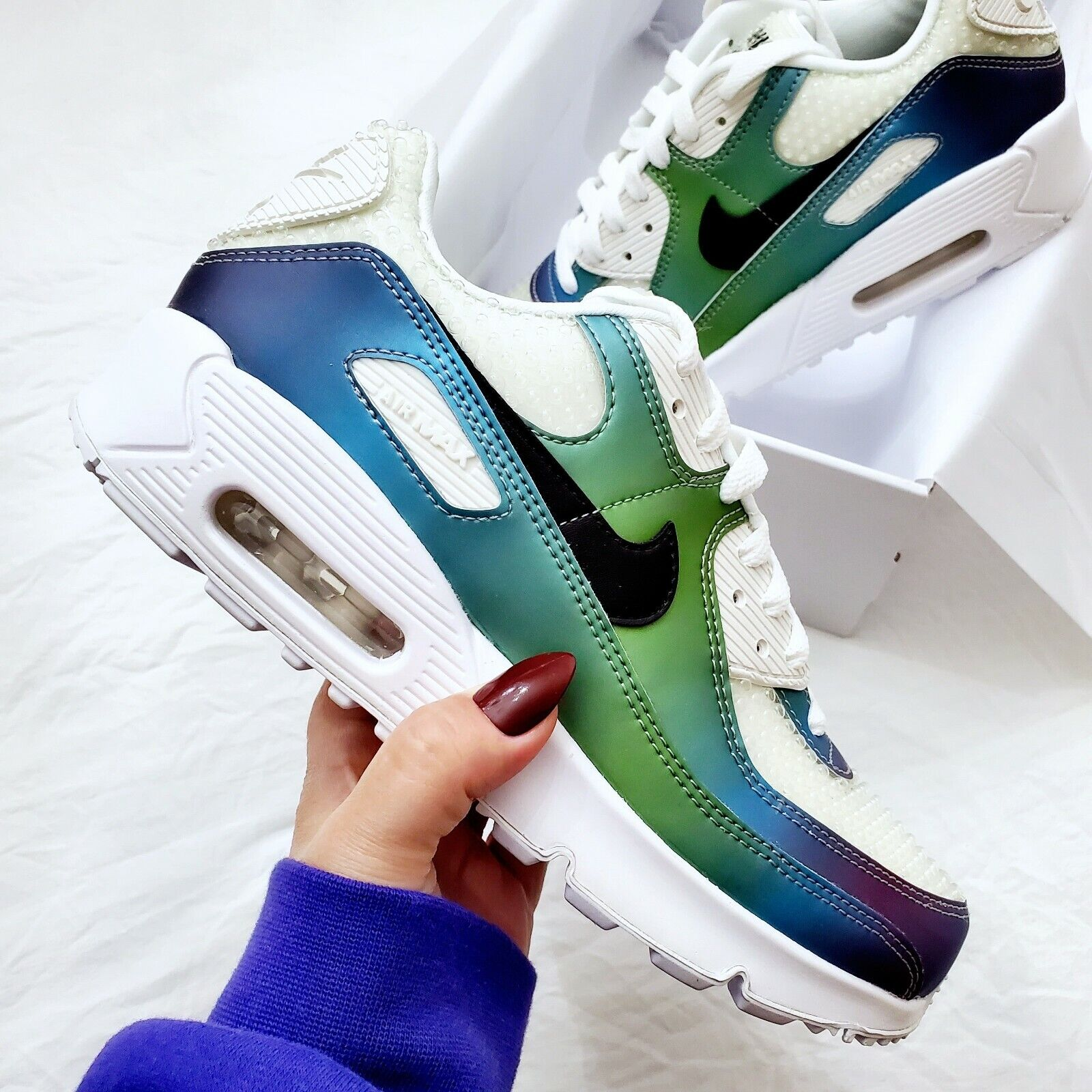 Nike Air Max 90 20 (GS) Bubble Pack Shoes Size 6Y Style CT9631 100