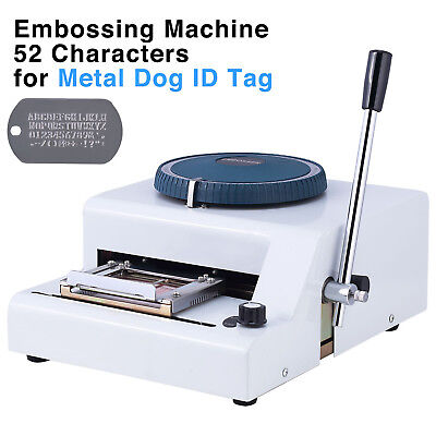 52 Code Characters Metal Dog Id Tag Embosser Embossing Stamping Manual Machine