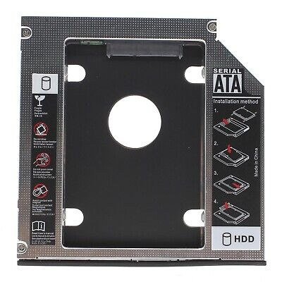 Best 12.7mm SATA HDD SSD 2nd Hard Drive Caddy Adapter for CD DVD-ROM Optical