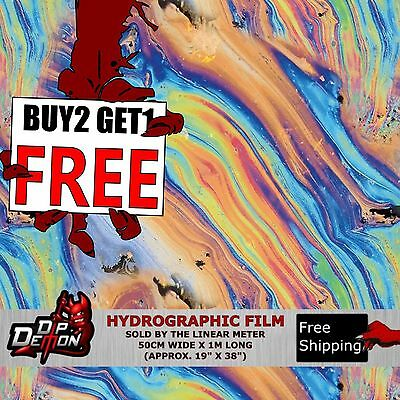Lm Oil Slick Hydrographic Water Transfer Film Hydro Dipping Dip Demon