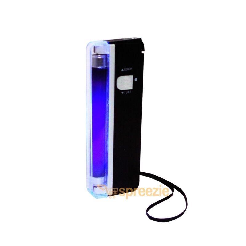 Portable Handheld UV Light Torch Blacklight Counterfeit Bill Money Detector 2in1